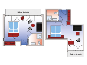Deluxe double room roomplan
