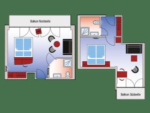 Doppelzimmer Deluxe Zimmerplan
