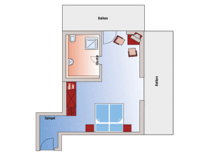 Comfort double room plan