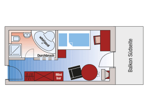 Roomplan Deluxe single room