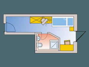 Zimmerplan Einzelzimmer Standard