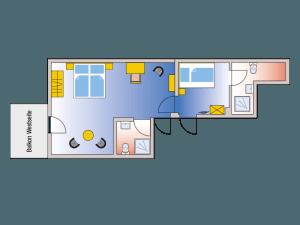 Zimmerplan Familienapartment Dachatelier