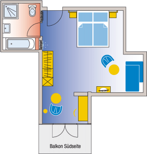 Zimmerplan Chiemgausuite